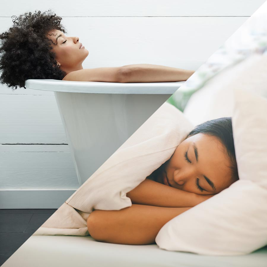Women resting and sleeping